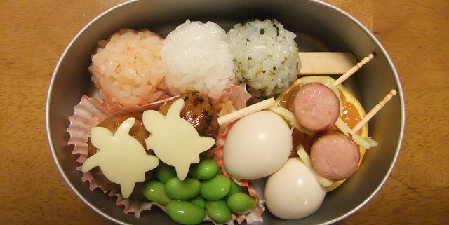 a healthy and artistic bento meal